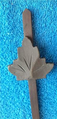 German Wooden Cuckoo Clock  Maple Leaf Pendulum Parts Repair 1 oz F78