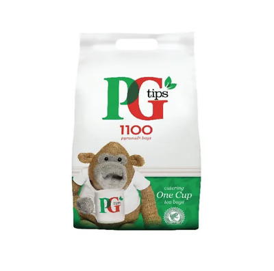 Pg Tips 1100 Pyramid One Cup Tea Catering Bags Bulk Buy + Free 24H Delivery