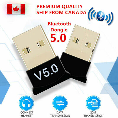 USB 5.0 Bluetooth Adapter Wireless Dongle High Speed CSR for PC Windows Computer