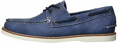 Unlisted by Kenneth Cole Mens Santon Fabric Round Toe Boat Shoes, Blue, Size 8.0
