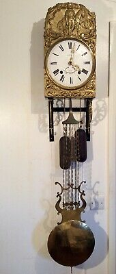 1860, French Brass Comtoise repeater clock, No 142 With Stand