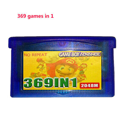 For GBA NDS GBA SP GBM NDS NDSL 369 Games in 1 Game Cartridge Multicart Parts