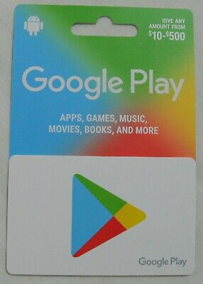 Google Play Collectible Gift Card NO VALUE Not Activated
