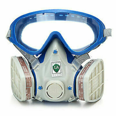 Mask Survival Gas Emergency Safety Respiratory Dual Goggles Protection 2 Filter