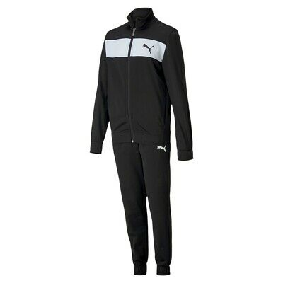 Puma Poly Suit cl B Tracksuit Kinder Trainingsanzug 581528 Sportanzug Schwarz