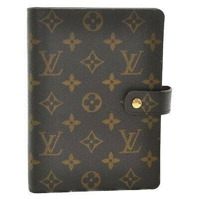 LOUIS VUITTON Monogram Agenda MM Day Planner Cover R20105 LV Auth sa1757