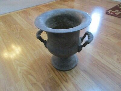 """Vintage Silver Plate Urn - Double Handle -10"""" Tall"""