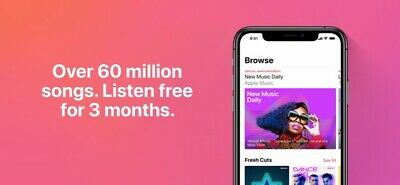 Apple iTunes gift - 3 Months Apple Music Trial Account. READ Description.
