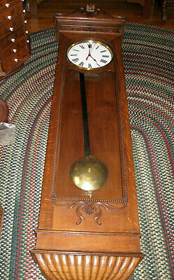 Antique #1 NEW YORK STANDARD WATCH COMPANY WALL CLOCK REGULATOR.
