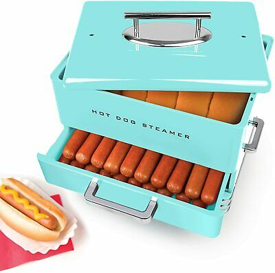 Extra Large Diner-Style Steamer, 24 Hot Dogs and 12 Bun Capacity Brats Breakfast
