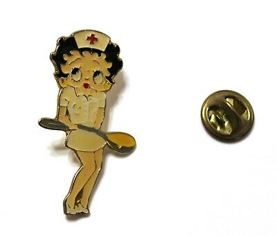1990's Unbranded BETTY BOOP as a nurse OVERSIZED pin 4 x 2.5 cm. VHTF