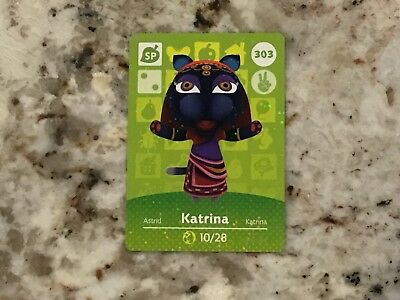 KATRINA #303 Animal Crossing Amiibo Card Mint From Either Series 1, 2, 3, 4 & 5.