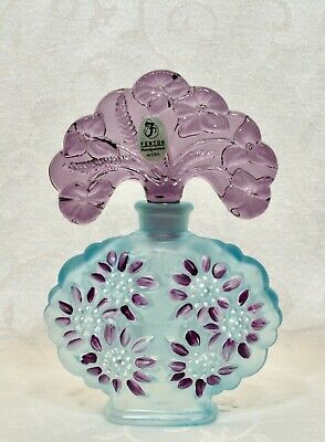 Fenton, Perfume with Stopper, Hand Decorated, Numbered Edition.