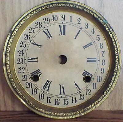 Antique Waterbury Calendar Clock Dial For 8-Day Kitchen Clock For Parts
