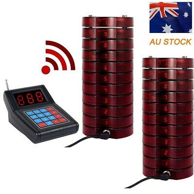 Restaurant SU668 Cafe Food Truck Wireless Paging Calling System+20*Pagers 433MHz