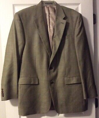 ***EUC*** Ralph Lauren Men's Silk Wool Linen Tan Brown Jacket Blazer • Size 44L