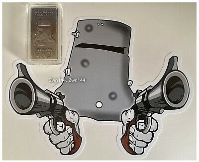 NED KELLY The Last Outlaw, Wanted. 1oz Coin + 10G Ingot. Gold + Silver Antiqued.