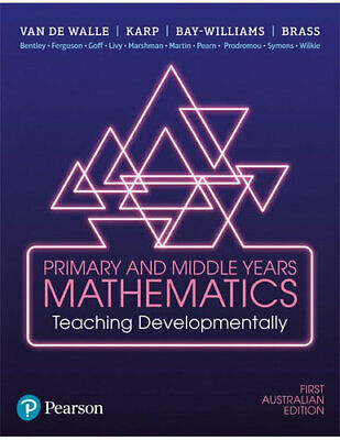 NEW Primary and Middle Years Mathematics 1st edition By John Van de Walle