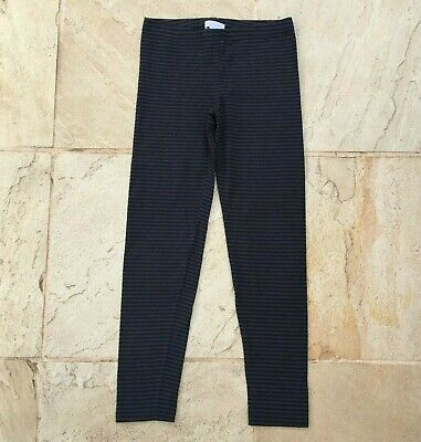 Pumpkin Patch Girls Size 11, New Without Tags, Gray / Black Stripe Leggings.
