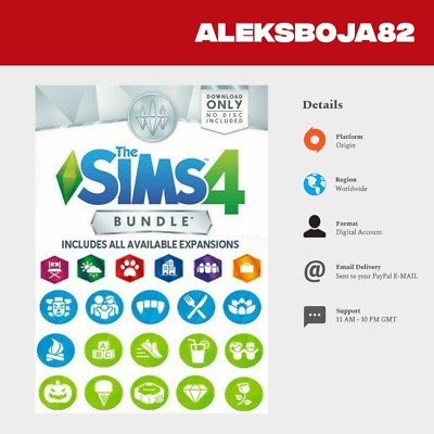 The Sims 4 ALL Expansions & 10+ DLC (PC, 2014)