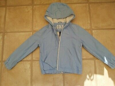 Girls Gap Lined Summer Baby Blue Jacket Coat 9-10 Years