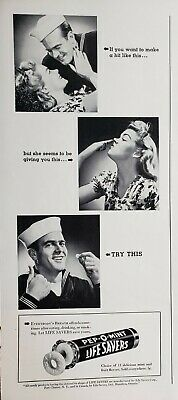 Lot of 3 Vintage 1941 Life Savers Candy Ads