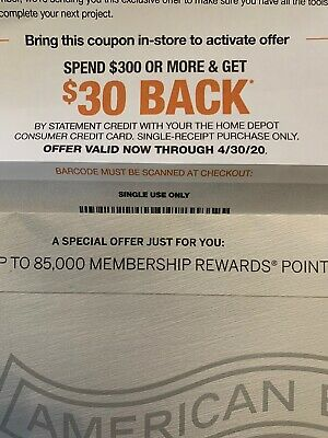 Home Depot Coupon $30 Off Expires 4/30/20 10%