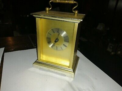Vintage Carriage Clock Scholer Quartz Swiss Movement, Working (38)