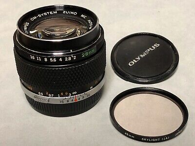 Olympus OM-System Zuiko MC Auto-W 28mm f2 lens 85% condition