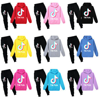 New Kids Boy Girl Tik Tok Hoodie Pants Suit Long Sleeve Tracksuit Sportswear Set