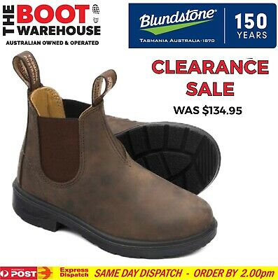 Blundstone 565 'CHILDREN'S  BLUNNIES', Elastic Sided Non Safety. Rustic Brown!