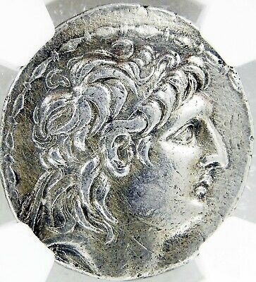 SELEUCID KINGDOM Antiochus VIIl 121-96 BC Ancient SILVER COIN AR Tetradrachm VF