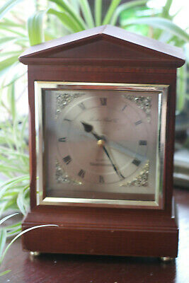 1980's London Clock Co. Westminster Quartz Mantle Clock - Working Well