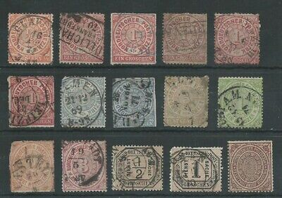 North German Confed 1868-1870 from an old collection mostly good used. (2005).