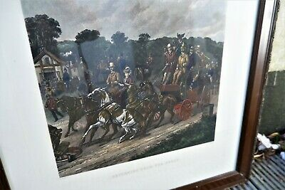 Antique Henry Alken Returning From The Derby Hand Coloured Steeplechase Picture