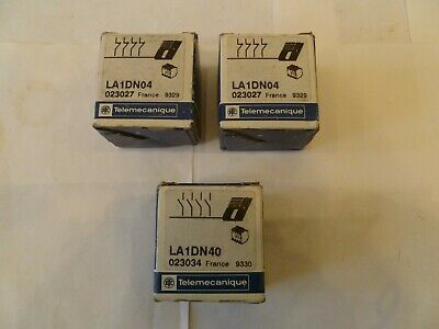 Job Lot Of 3 Telemecanique La1Dn Auxiliary Contact Blocks All Sealed Brand New