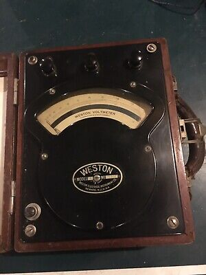 Weston Ac/dc Voltmeter Model 341