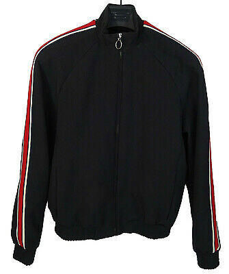 MENS BLACK MOD RETRO STYLE BOMBER HARRINGTON JACKET by TOPMAN (SMALL)