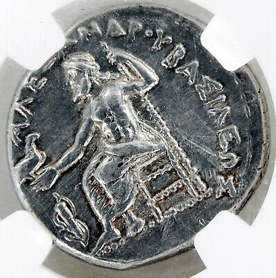 GEM Alexander III 336-323 BC KINGDOM MACEDON AR Tetradrachm AU STRIKE 5/5 COIN