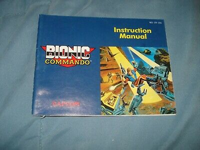 Bionic Commando Manual only NES Nintendo