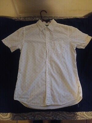 OLD NAVY Mens The Classic Button Down Slim Fit Cotton Shirt S Anchor Print