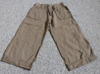 Girl's Next Chocolate Brown Capri / Cropped Linen/Cotton Mix Trousers - 8 Years