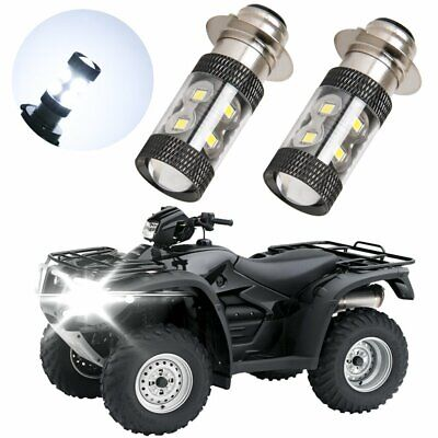 For Honda Sportrax TRX400EX 99-08 TRX450R 04-05 LED P15D H6M Headlight Bulbs