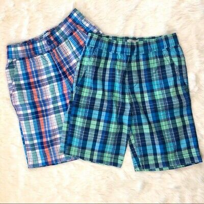 Children's Place Boys Two Pairs Of Plaid Shorts Size 10 Lot