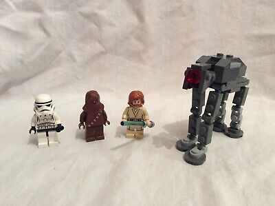 Lego Star Wars Minifigures Bundle Inc Stormtrooper, Chewbacca, Obi Wan Kenobi