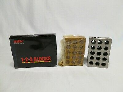 """MHC Industrial Supply 1-2-3 23 Hole Matched Steel Block Set, +/-.0002"""", in Box"""
