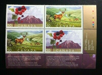 Canada #2105-2106a MNH, Biosphere Reserves LR Plate Block of Stamps 2005