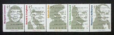Canada Sc# 1626a (1622-1626) CANADIAN AUTHORS Strip of 5 stamps 1996 MINT MNH