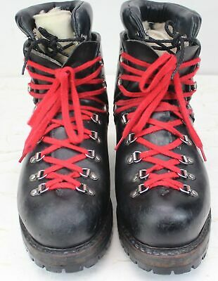 Men's Heavy Duty Boots Black Leather Insulated Vibram Made in Italy Size 10.5