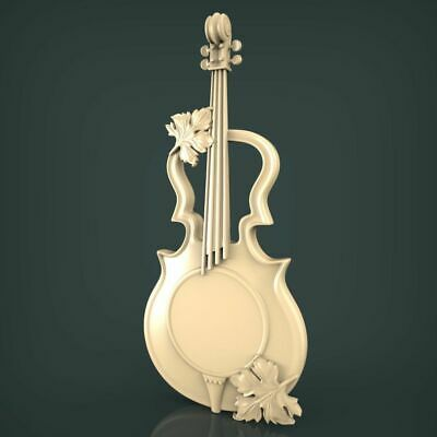 (1030) STL Model Violin for CNC Router 3D Printer Artcam Aspire Bas Relief